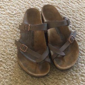 Mayari Birkenstock sandals brown 39